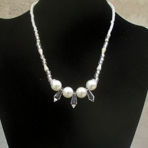 White Pearl Wedding Necklace